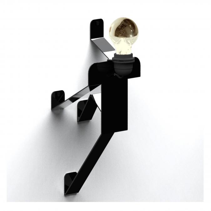 Thomas de Lussac - Moonwalk APPLIQUE COSMO noir - Applique murale - ampoule(s)