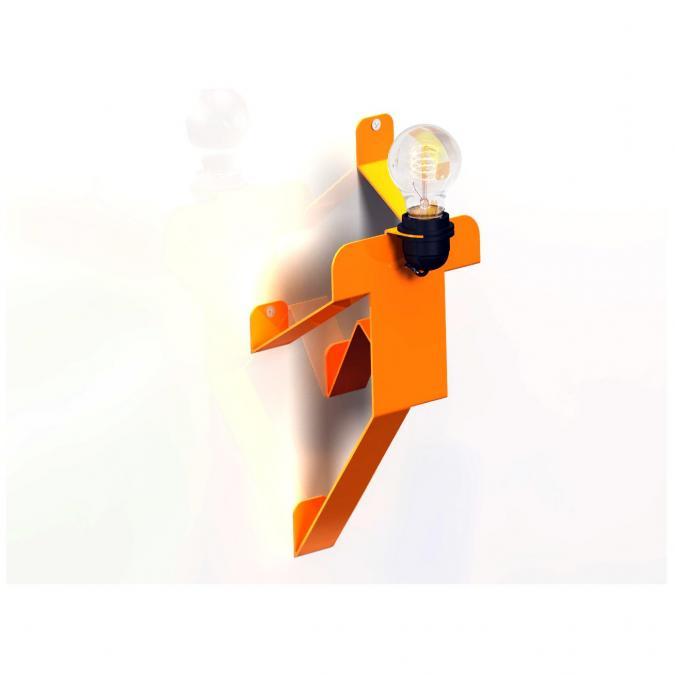 Thomas de Lussac - Moonwalk APPLIQUE TEKNIKS orange - Applique murale - ampoule(s)