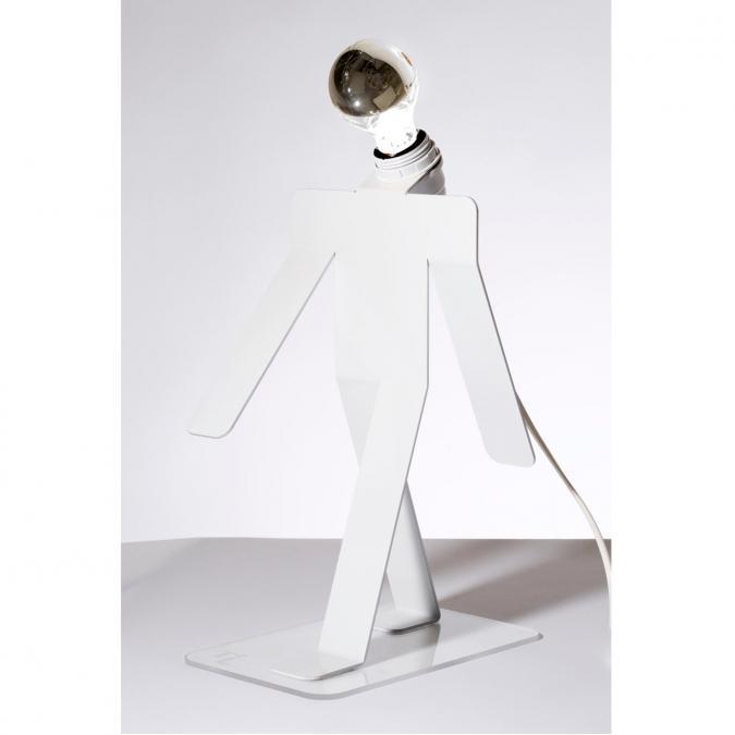 Thomas de Lussac - Moonwalk COSMO blanc - Lampe de bureau - ampoule(s)