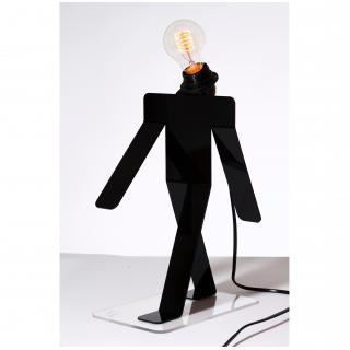 Thomas de Lussac - Moonwalk TEKNIKS noir - Lampe de table - ampoule(s)