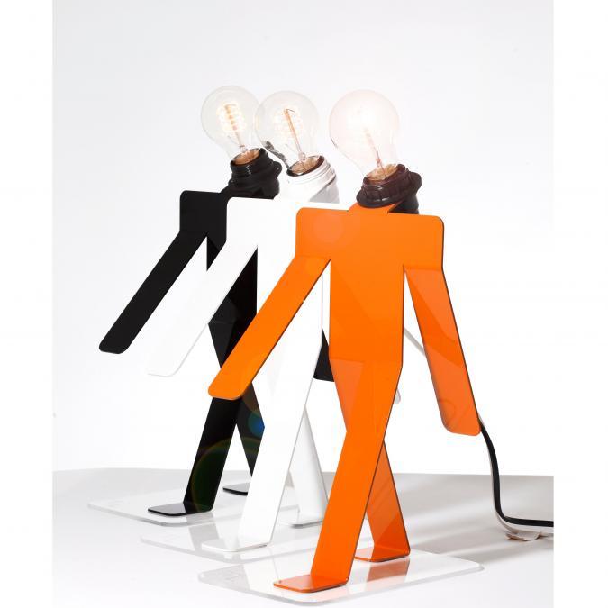 Thomas de Lussac - Moonwalk TEKNIKS orange - Lampe de table - ampoule(s)