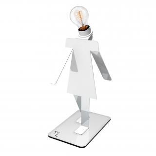 Thomas de Lussac - Moonwalkette TEKNIKS blanc - Lampe de bureau - ampoule(s)