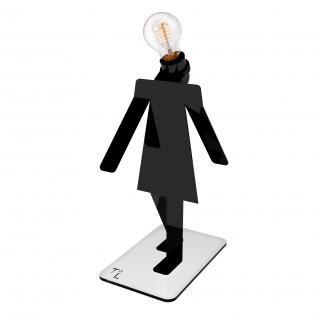 Thomas de Lussac - Moonwalkette TEKNIKS noir - Lampe de bureau - ampoule(s)