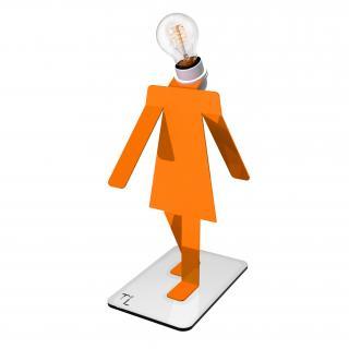 Thomas de Lussac - Moonwalkette TEKNIKS orange - Lampe de bureau - ampoule(s)