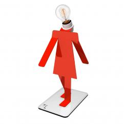 Thomas de Lussac - Moonwalkette TEKNIKS rouge - Lampe de bureau - ampoule(s)