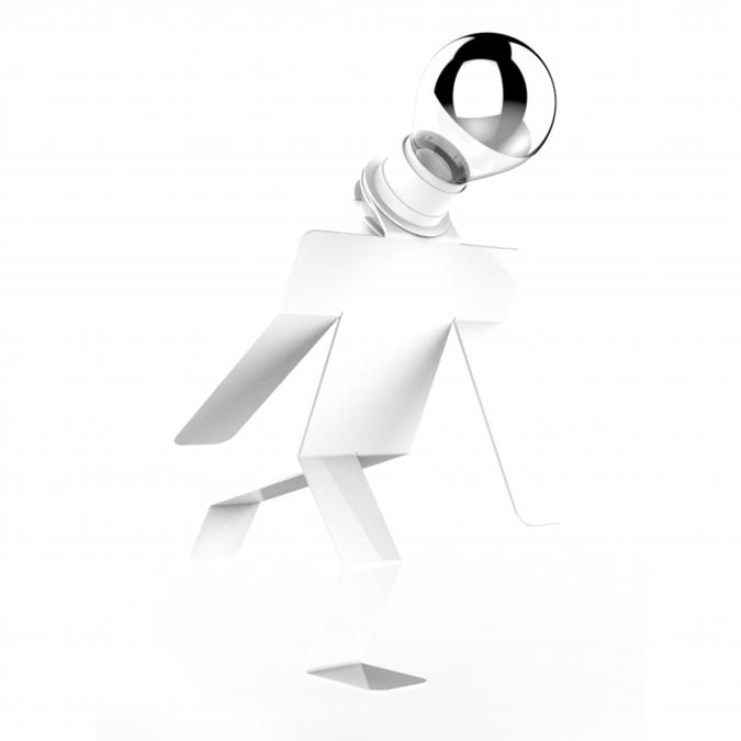 Thomas de Lussac - Moonwalkid Blanc - Lampe d'ambiance