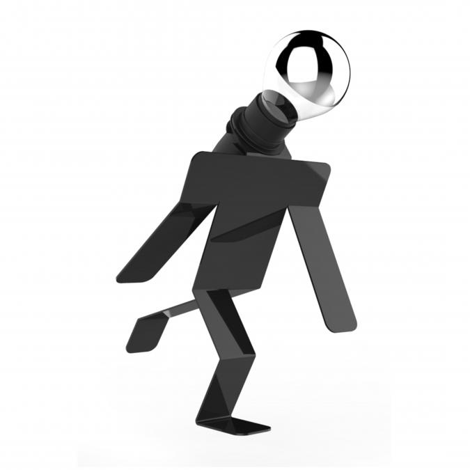 Thomas de Lussac - Moonwalkid noir - Lampe d'ambiance