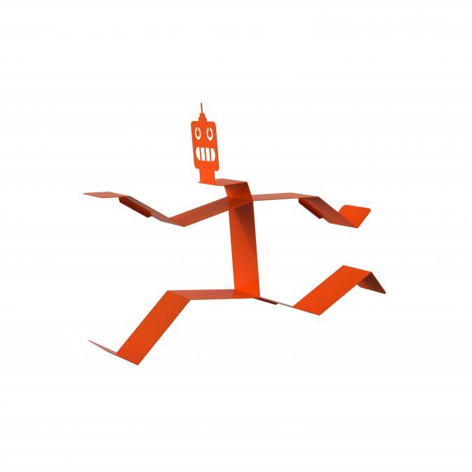 Thomas de Lussac - Robook Orange - Bibliothèque - Aluminium