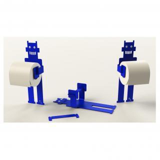 Thomas de Lussac - Robot trobo Bleu - Dérouleur de papier toilette