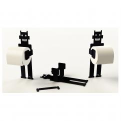 Thomas de Lussac - Robot trobo Noir - Dérouleur de papier toilette
