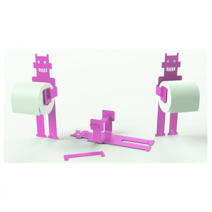 Thomas de Lussac - Robot trobo Rose - Dérouleur de papier toilette