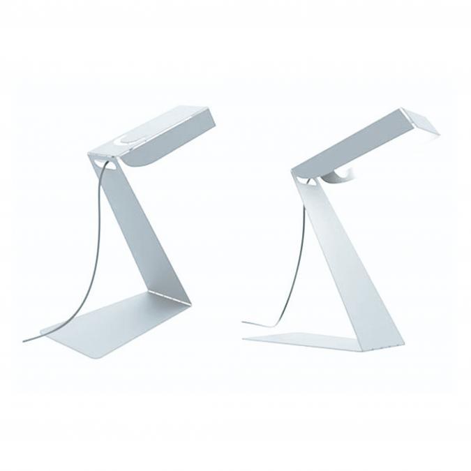 Thomas de Lussac - Small z light blanc - Lampe de bureau - ampoule(s)