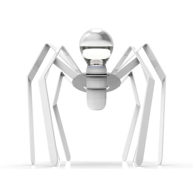 Thomas de Lussac - Spider light blanc - Lampe de chevet - ampoule(s)