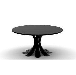 Thomas de Lussac - Table fleur Noir - Table - bois