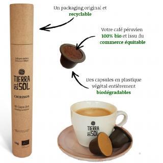 Café Tierra del Sol - Chirinos - Capsules Nespresso - Café - Café moulu
