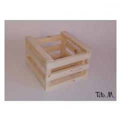Tito. M - Caisse en bois brut, A personnaliser, 20/20cm DIY - Caisse de rangement