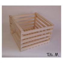 Tito. M - Caisse en bois brut, A personnaliser, 40/40cm DIY - Caisse de rangement