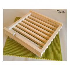 Tito. M - Support porte plante sur roulettes transparentes blanc - Support porte-plante