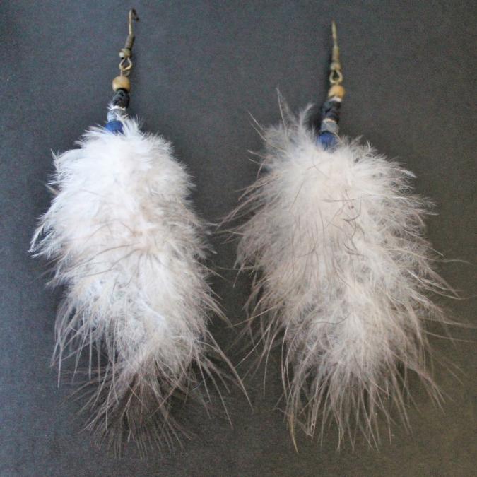 TomaYok - Boucles d oreille en Plumes - Boucles d'oreille - Autre