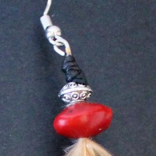 TomaYok - Boucles d oreille longues en plume - Boucles d'oreille - Autre
