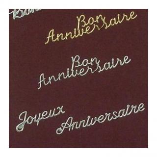 Ty cath créas breizh - Carte Signe du zodiaque Verseau brodée - Carte brodée
