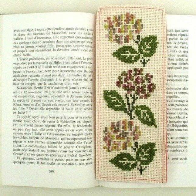 Ty cath créas breizh - Marque-pages Trilogie d'hortensias - Marque-page