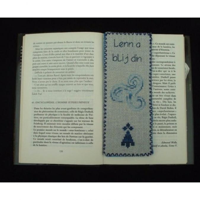Ty cath créas breizh - Marque-pages Triskel croix d'hermine J'aime lire - Marque-page