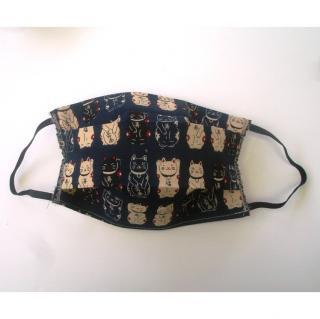 Ty cath créas breizh - Masque Maneki Neko bleu - Accessoires.
