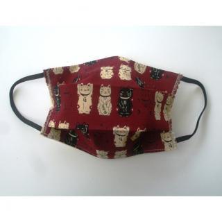 Ty cath créas breizh - Masque Maneki Neko bordeaux - Accessoires.