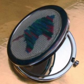 Ty cath créas breizh - Miroir de sac ou de poche Licorne - miroir de poche