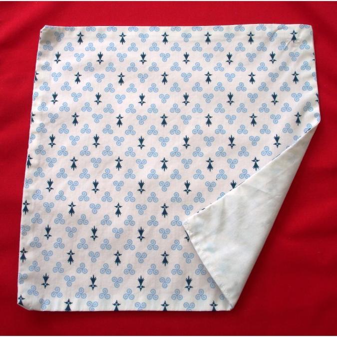 Ty cath créas breizh - Serviette de cantine et table enfant Hermines - Serviette de table - Bleu