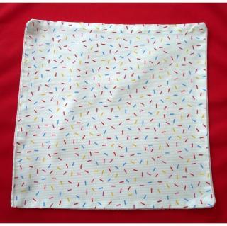 Ty cath créas breizh - Serviette de cantine et table enfant petits tirets - Serviette de table - Multicolore