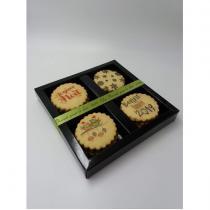 Un biscuit pour le Dire - Coffret Joyeuses fêtes Vanille - Coffret, Panier (gastronomie)