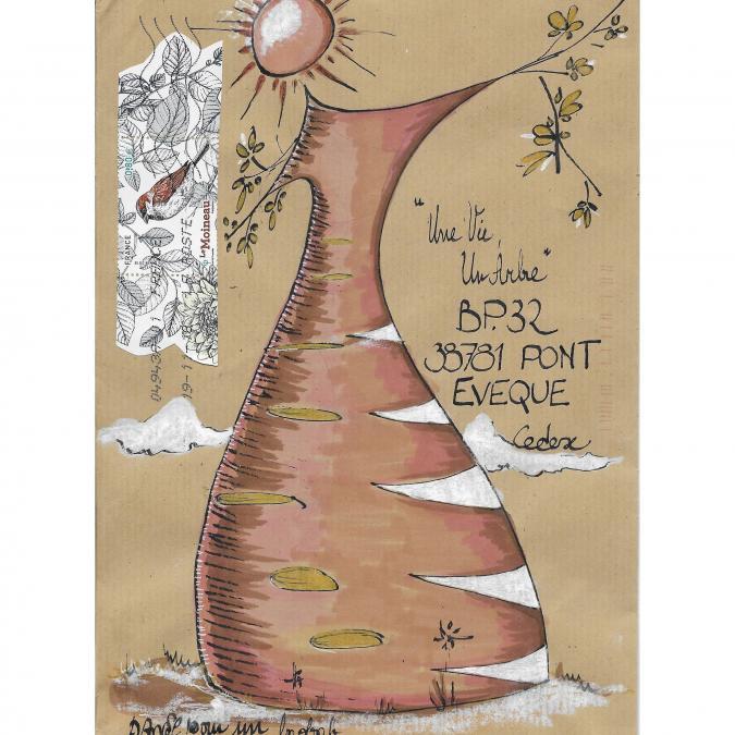 Une vie, un arbre - 19-012 - enveloppe d'artiste (Art Postal)
