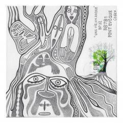 """Association """"Une vie, un arbre"""" - 19-106 - enveloppe d'artiste (Art Postal)"""