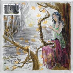 """Association """"Une vie, un arbre"""" - 19-180 - enveloppe d'artiste (Art Postal)"""