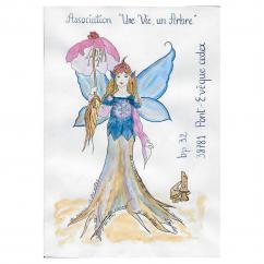 """Association """"Une vie, un arbre"""" - 19-277 - enveloppe d'artiste (Art Postal)"""