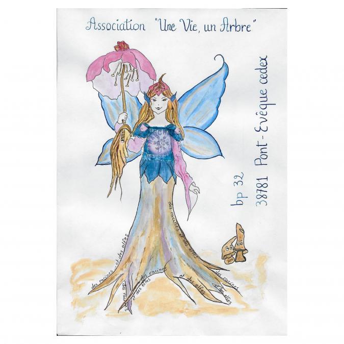 Une vie, un arbre - 19-277 - enveloppe d'artiste (Art Postal)