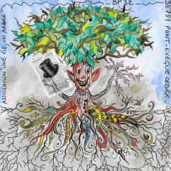 """Association """"Une vie, un arbre"""" - 19-286 - enveloppe d'artiste (Art Postal)"""