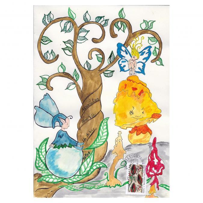 Une vie, un arbre - 19-289 - enveloppe d'artiste (Art Postal)