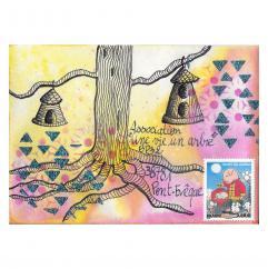 """Association """"Une vie, un arbre"""" - 19-291 - enveloppe d'artiste (Art Postal)"""