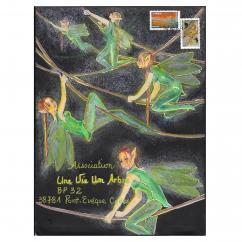 """Association """"Une vie, un arbre"""" - 19-348 - enveloppe d'artiste (Art Postal)"""