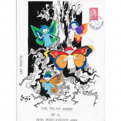 """Association """"Une vie, un arbre"""" - 19-361 - enveloppe d'artiste (Art Postal)"""