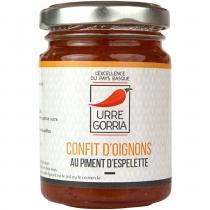 URRE GORRIA - CONFIT D'OIGNONS AU PIMENT D'ESPELETTE - Condiments et sauces - 0.120