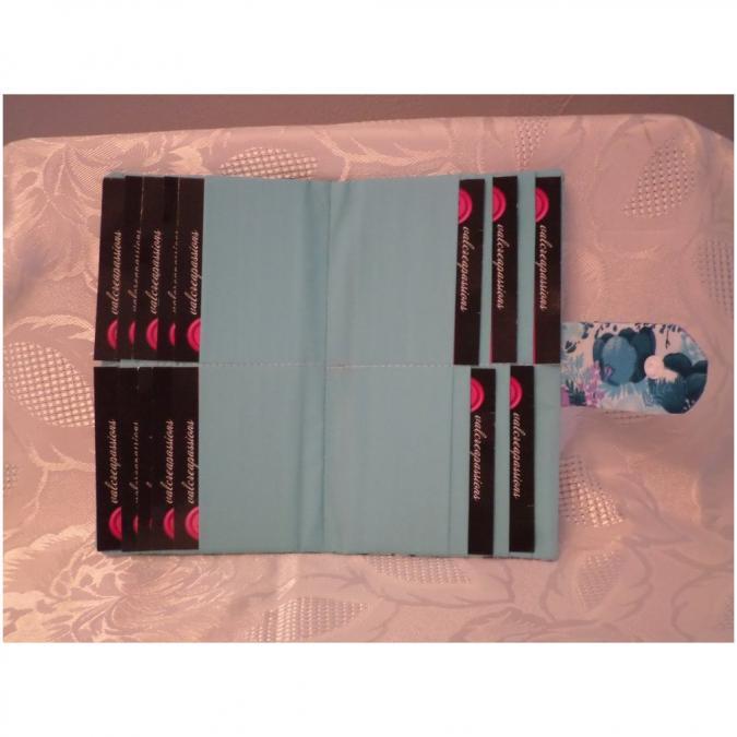 Valcreapassions - Porte cartes pour 20 cartes - Porte-carte - Bleu