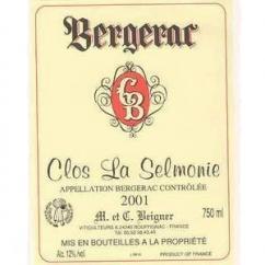 Vignoble Beigner - Clos la Selmonie - Bergerac Rouge - 2017 - Bouteille - 0.75L