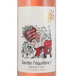 Vignobles Lacoste - Garder l'Equilibre! Bordeaux Rosé Bio - 2017 - Bouteille - 0.75L