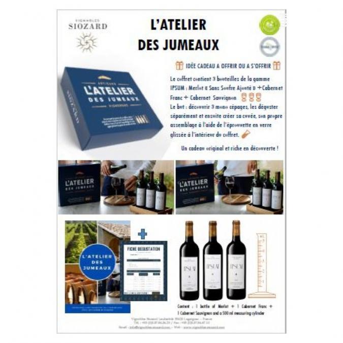 VIGNOBLES SIOZARD - L'Atelier des Jumeaux - Jeu d'assemblage - 2019 - Bouteille - 0.75L