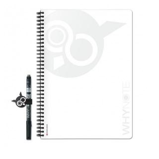 WhyNote - WhyNote Book – A4 – Blanc - bloc-note réutilisable