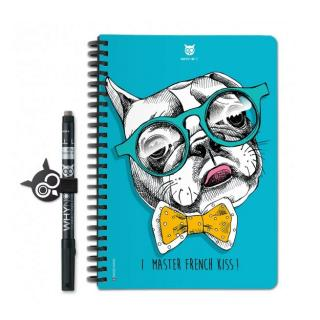 WhyNote - WhyNote Book – A5 – Bulldog - bloc-note réutilisable